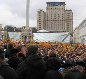 Orangene Revolution in der Ukraine 2004. © Serhyi, CC BY-SA. Wikimedia Commons