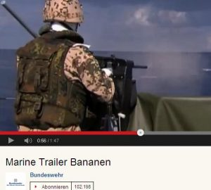 Screenshot Marine Trailer Bananen Video © Bundeswehr 2013