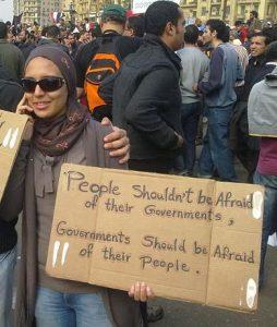 Ägypten 2011, kurz vor dem Rücktritt Mubaraks. © 2011 Essam Sharaf CC BY Wikimedia Commons. Ägypten 2011 - eine ganz andere Ausgangssituation als in Deutschland 1945
