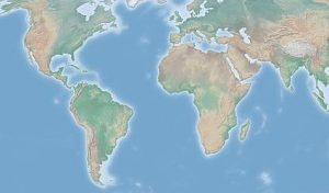 Die Erde, ein Ausschnitt anhand von Natural Earth Daten - Wikimedia Commons Ktrinko, CC BY-SA 2010